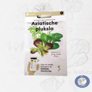 Product afbeelding ID 2521 met informatie over Aziatische pluksla zaden Makkelijke Moestuin voor website Birds and Berries België