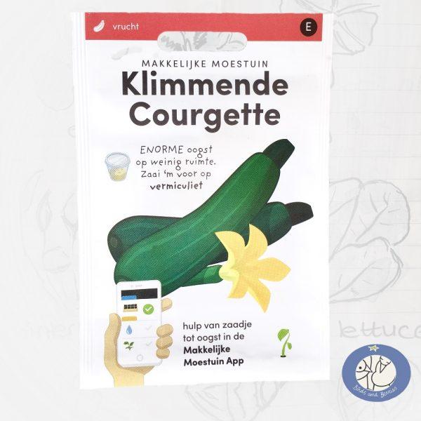 Product afbeelding los zakje zaden klimmende courgette Makkelijke Moestuin voor website Birds and Berries België