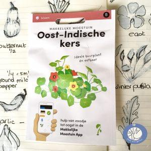 Product afbeelding los zakje Oost-Indische kers uit seizoen serie van de Makkelijke Moestuin voor website Birds and Berries België