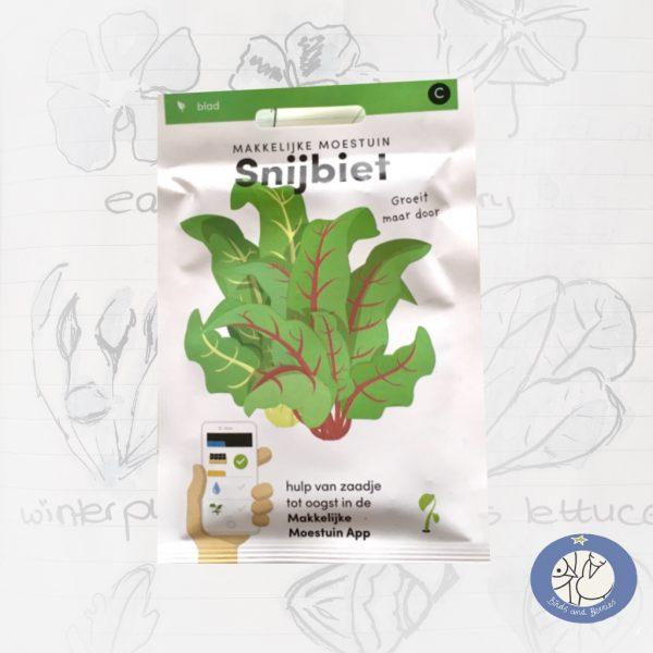 Product afbeelding ID 2491 met informatie over Snijbiet zaden van het merk Makkelijke Moestuin voor website Birds and Berries België