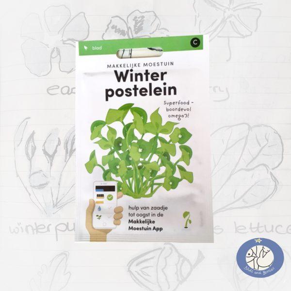Product afbeelding ID 2517 met informatie over Winterpostelein zaden Makkelijke Moestuin voor website Birds and Berries België
