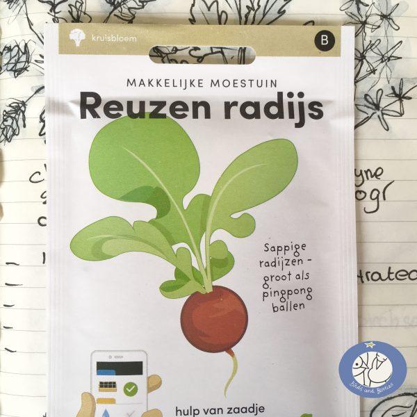 Product afbeelding los zakje reuzen radijs uit Basis serie voor website Birds and Berries België