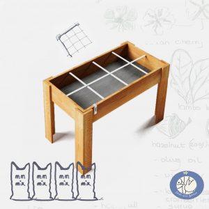 Product kleine moestuintafel MM Original met klimrek met mix voor webshop Birds and Berries