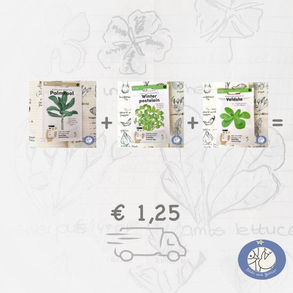 Productafbeelding 3 zakjes zaden verzenden bij webshop Birds and Berries