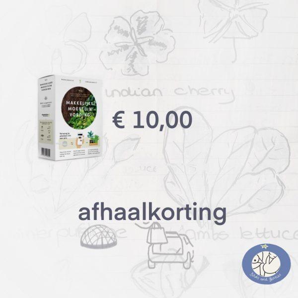 Product afbeelding nr. ID 8383 Makkelijke Moestuin voeding. Hier met afhaalkorting bij Birds and Berries in België