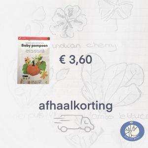 Product afbeelding Baby Pompoen van de Makkelijke Moestuin zaden. Hier met afhaalkorting bij Birds and Berries België
