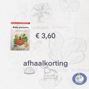 Product afbeelding ID 8569 Baby Pompoen van de Makkelijke Moestuin zaden. Hier met afhaalkorting bij Birds and Berries België