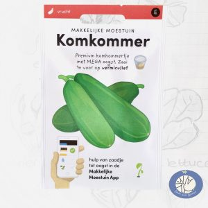 Product afbeelding los zakje zaden komkommer klimrek Makkelijke Moestuin voor website Birds and Berries België