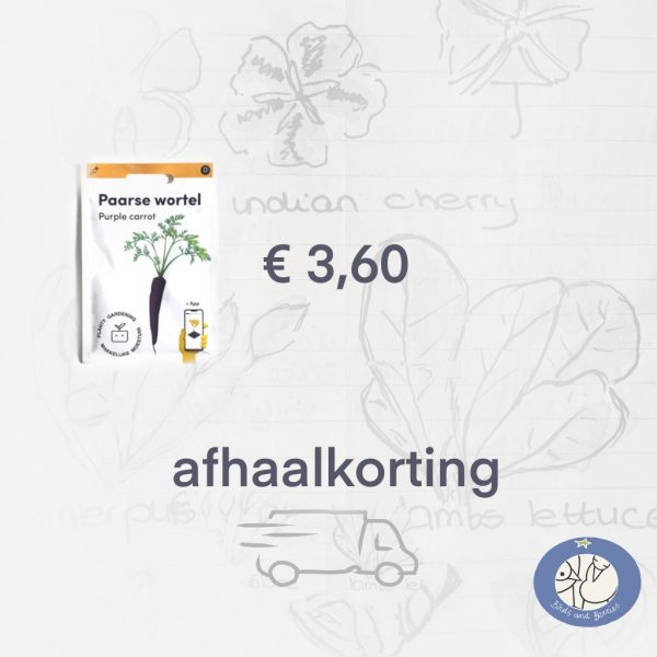 Product afbeelding Paarse Wortel van de Makkelijke Moestuin zaden. Hier met afhaalkorting bij Birds and Berries België