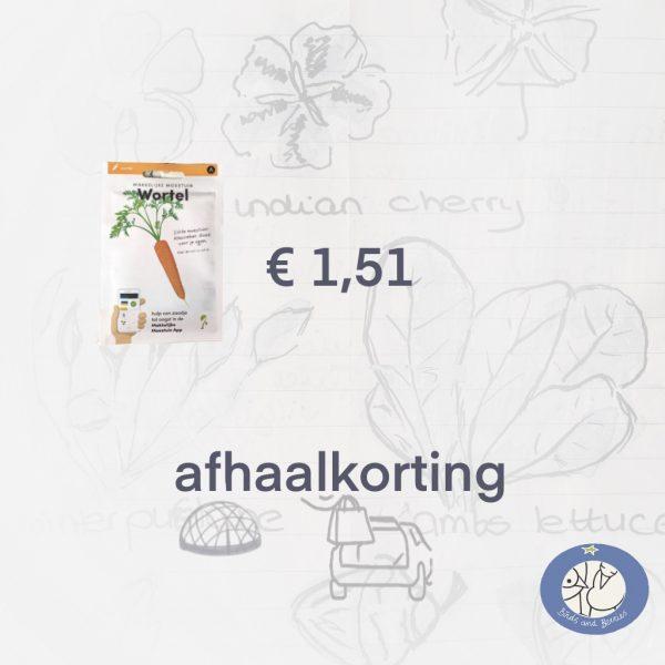 Product afbeelding Wortel van de Makkelijke Moestuin zaden. Hier met afhaalkorting bij Birds and Berries België