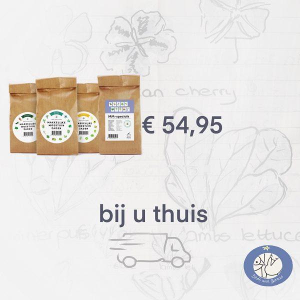 Product afbeelding Zadenpakket Totaal Makkelijke Moestuin tot bij u thuis. In de webshop Birds and Berries